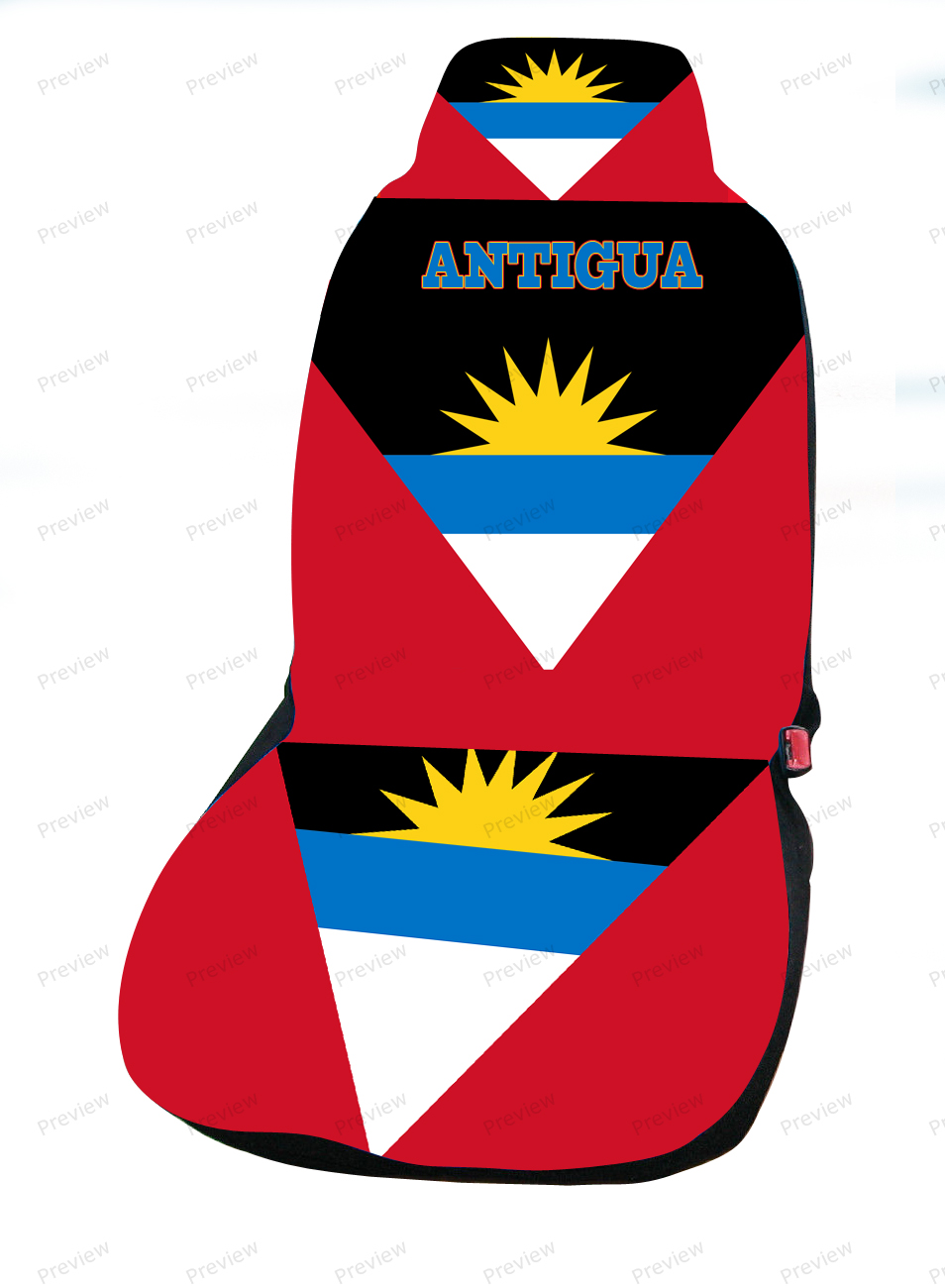 antigua car cover seat flag. Black Bedroom Furniture Sets. Home Design Ideas