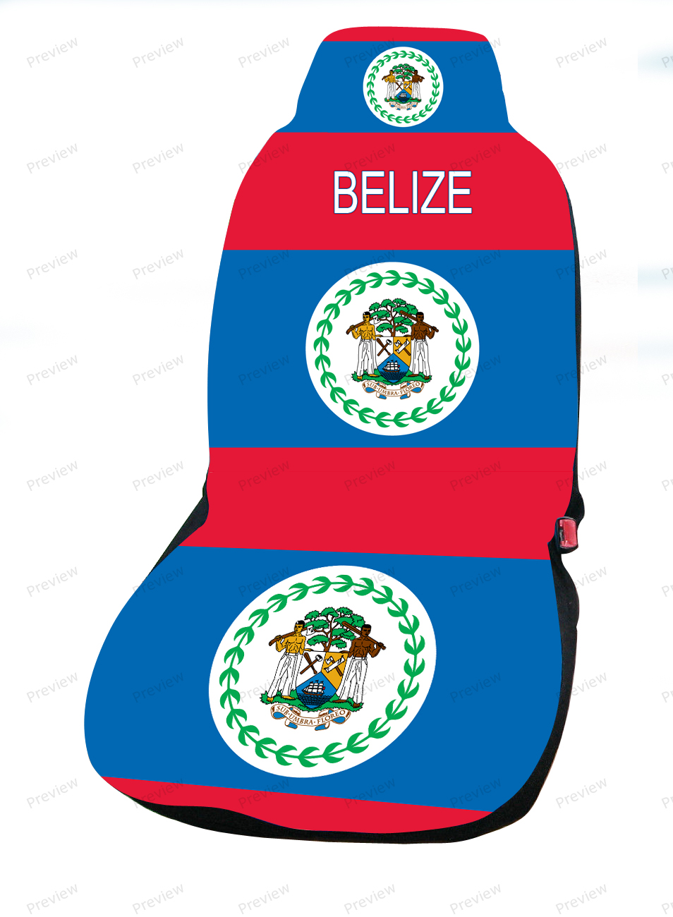 belize car cover seat flag. Black Bedroom Furniture Sets. Home Design Ideas