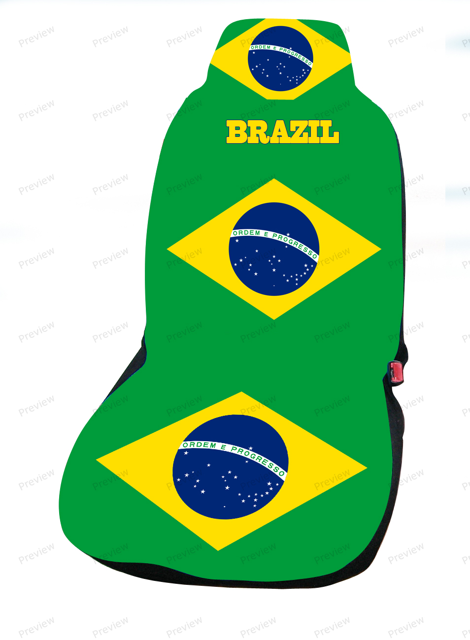 brazil car cover seat flag. Black Bedroom Furniture Sets. Home Design Ideas