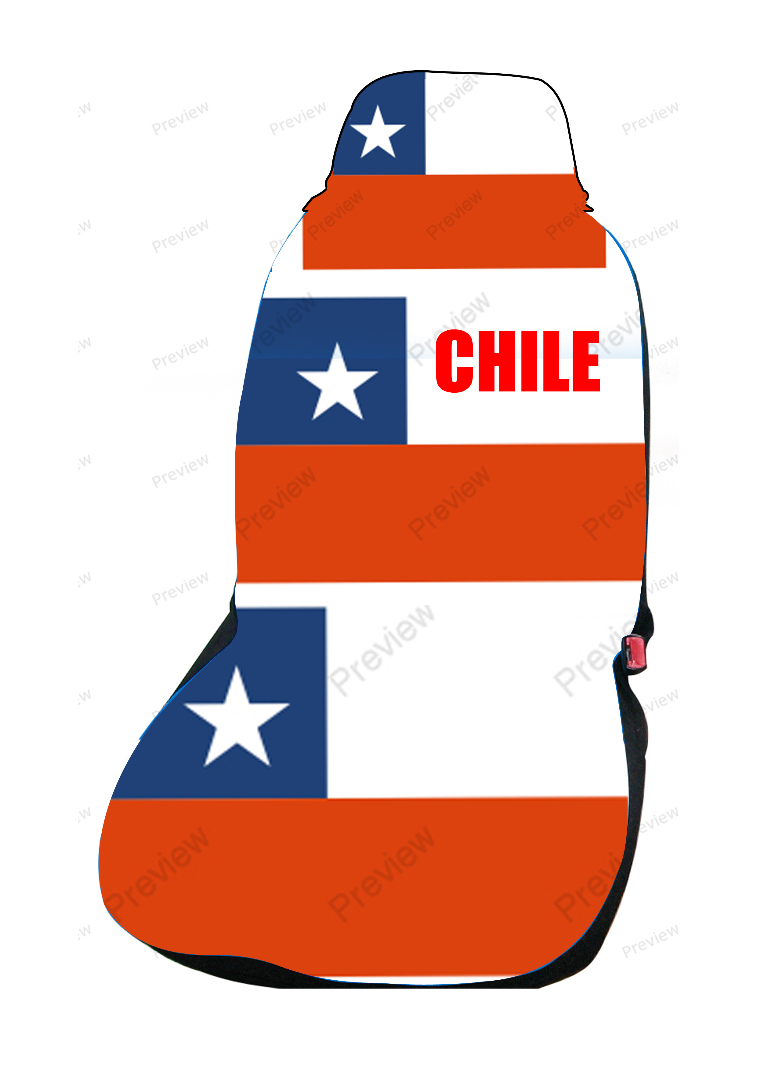 chile car cover seat flag. Black Bedroom Furniture Sets. Home Design Ideas