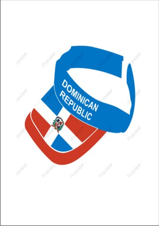 images/Dominican Republic visor cap.