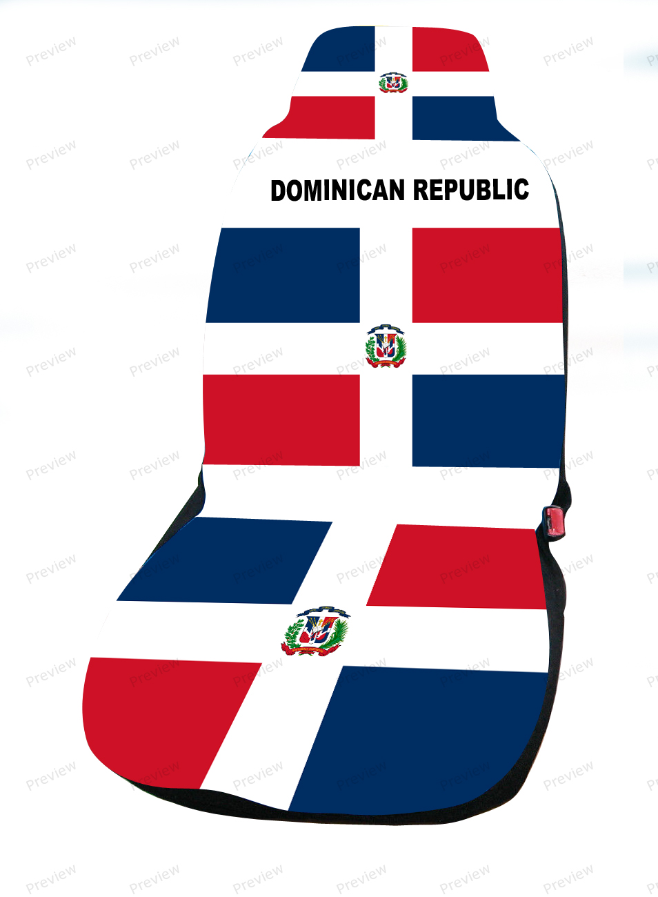 dominican republic car cover seat flag. Black Bedroom Furniture Sets. Home Design Ideas