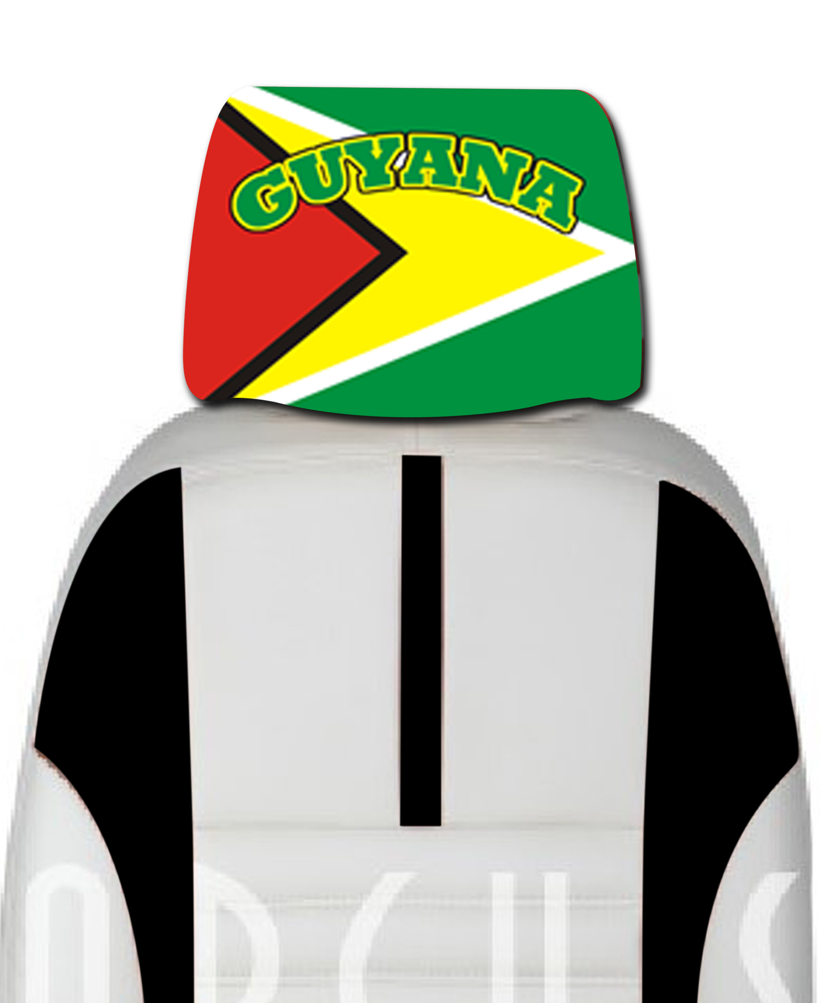 images/Guyana headrest Car cover seat flag