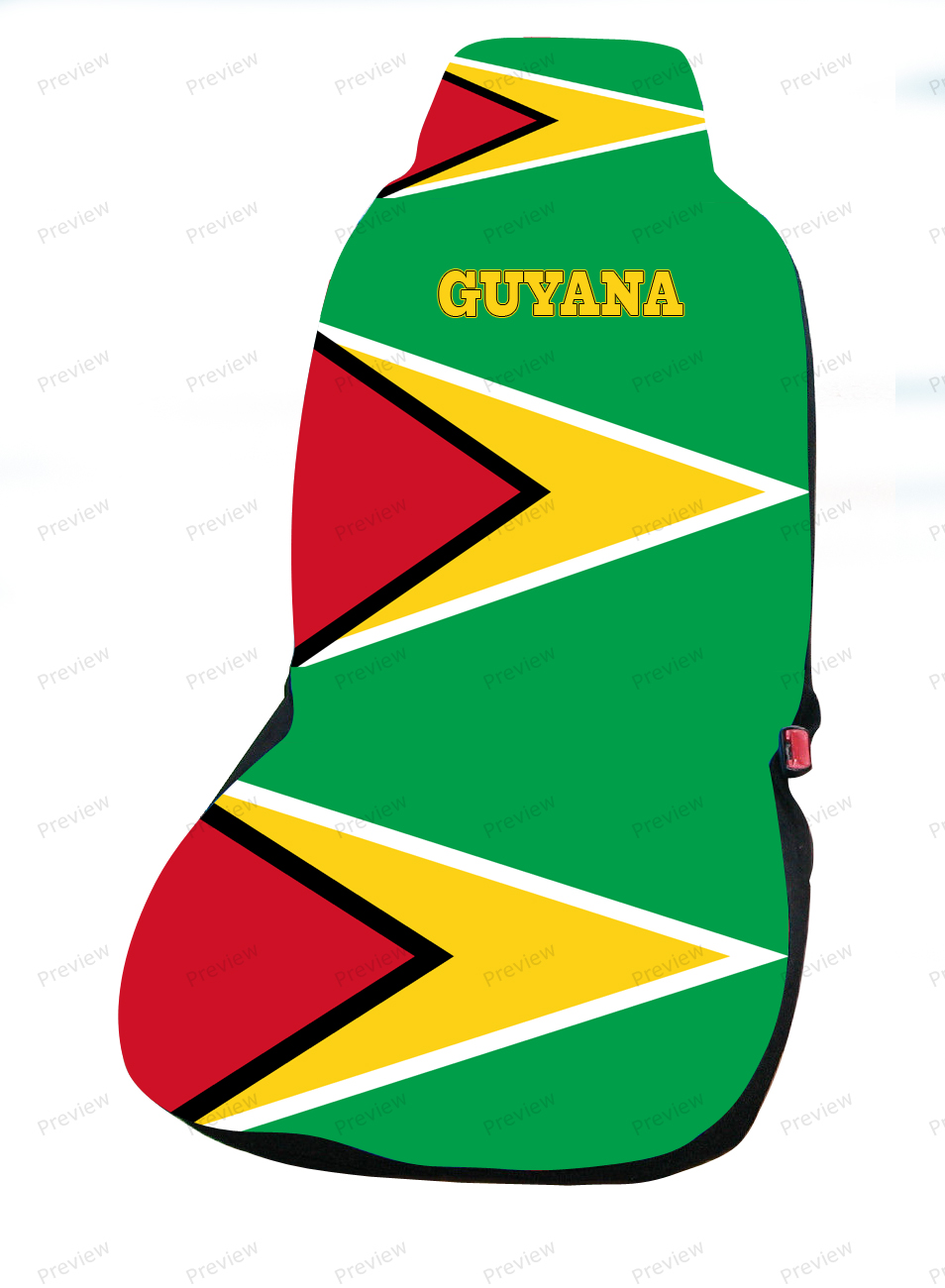 guyana car cover seat flag. Black Bedroom Furniture Sets. Home Design Ideas